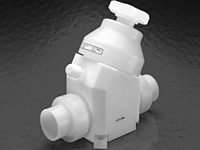 "Furon® ChemPure™ 2"" In-Line Valve, Manually Actuated, 2-Way Multi-Turn Valve"
