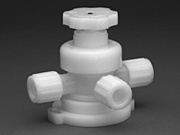 Furon® UPX 2000 Diaphragm Valve Manually Actuated, 3-Way Multi Turn