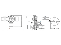 3-Way Stopcock 1/4 Turn Female Threaded & Panel Mounted PFA HP Valve-2