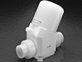 "Furon® Chempure™ 2"" In-Line Valve, Pneumatically Actuated, 2-Way Valve"