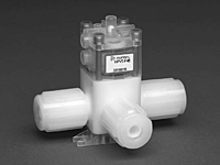 Furon® HPV Diaphragm Valve, Pneumatically Actuated, 3-Way