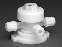 Furon® UPM 1000 Diaphragm Valve Pneumatically Actuated, 3-Way