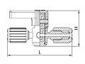 2-Way Stopcock 1/4 Turn PFA HP Valve-2